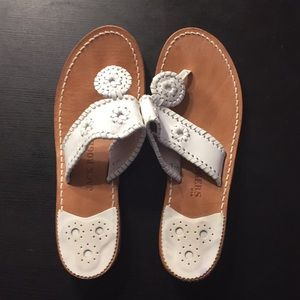 White Jack Rogers flat sandals size 9